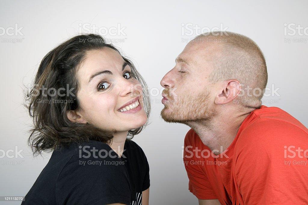 Beautiful Woman Waiting for Kiss royalty-free stock photo