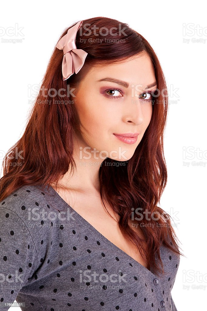 Beautiful woman wears sexy clothes stock photo