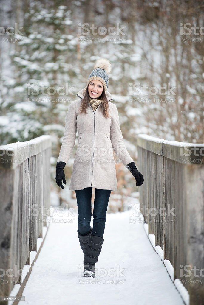 Beautiful Woman, Winter Fashion stock photo