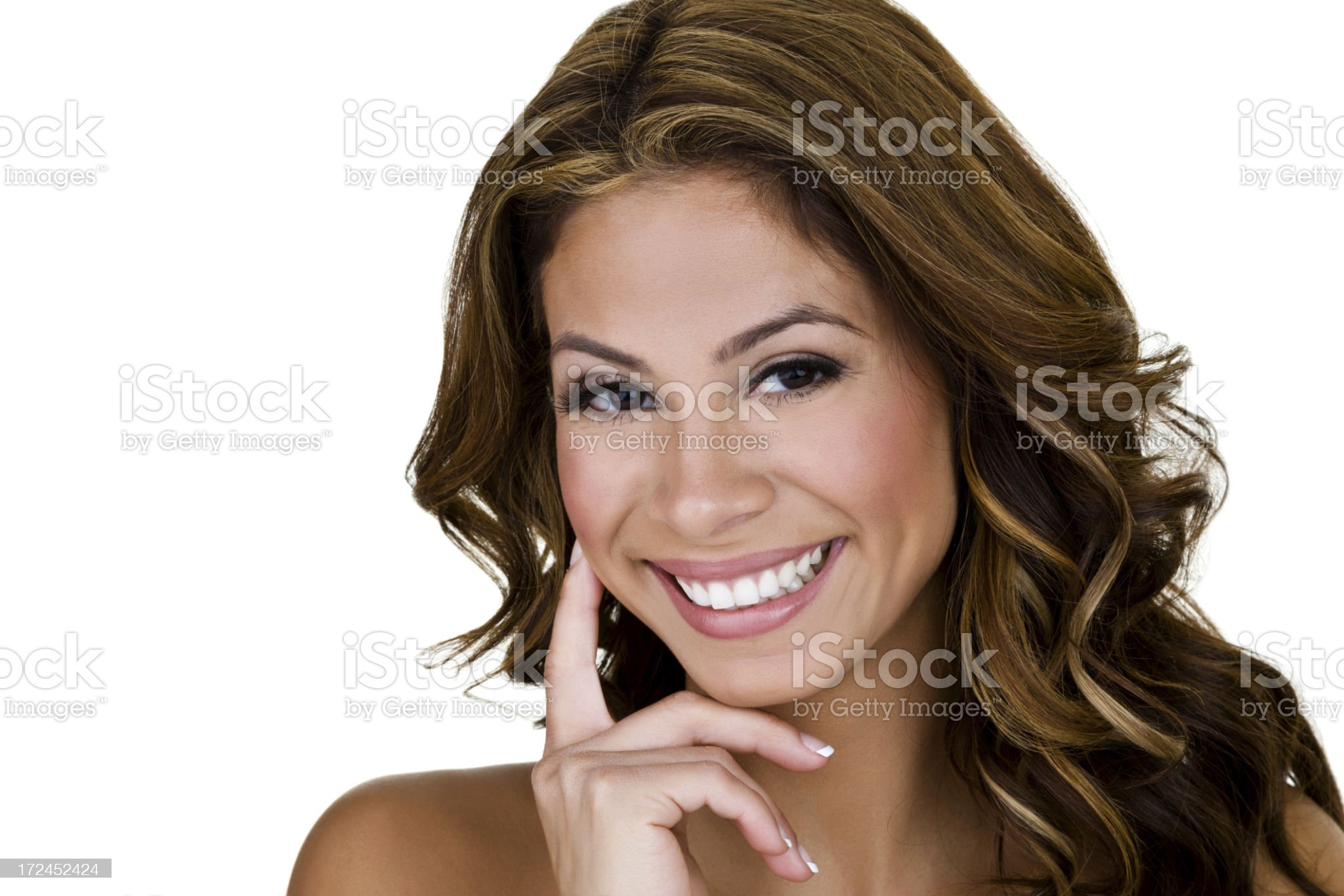 Beautiful woman with a perfect smile royalty-free stock photo