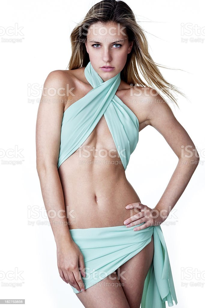 Beautiful woman with a seductive look royalty-free stock photo