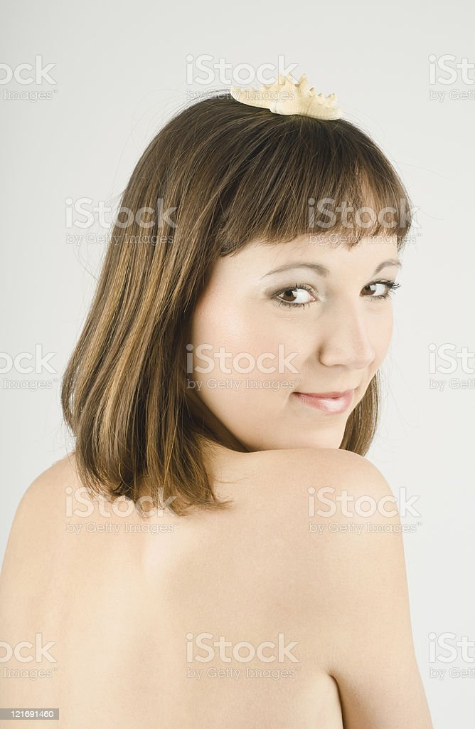Beautiful Woman with a See Star stock photo