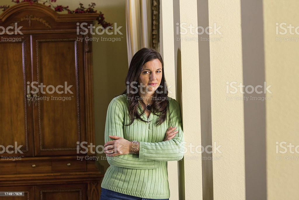 Beautiful Woman With Arms Crossed royalty-free stock photo