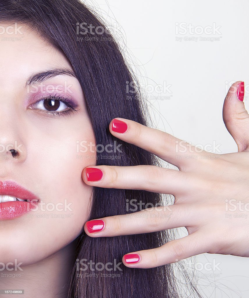 beautiful woman with bright makeup royalty-free stock photo