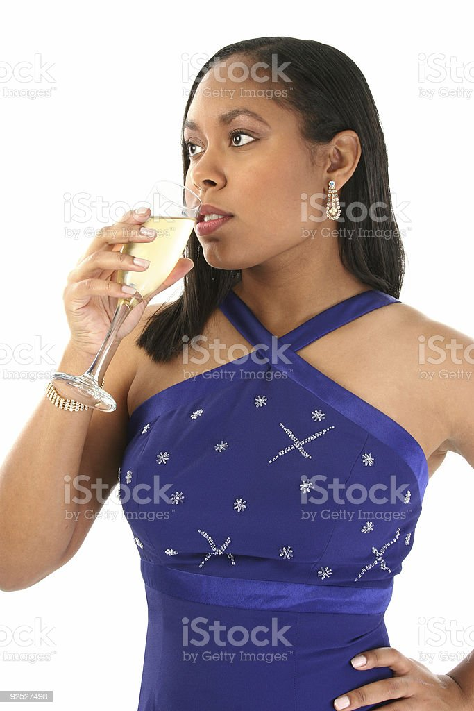 Beautiful Woman with Champagne royalty-free stock photo