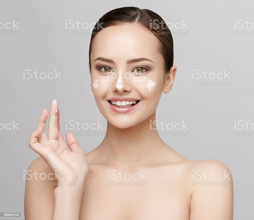 Beautiful Woman with Clean Fresh Skin stock photo