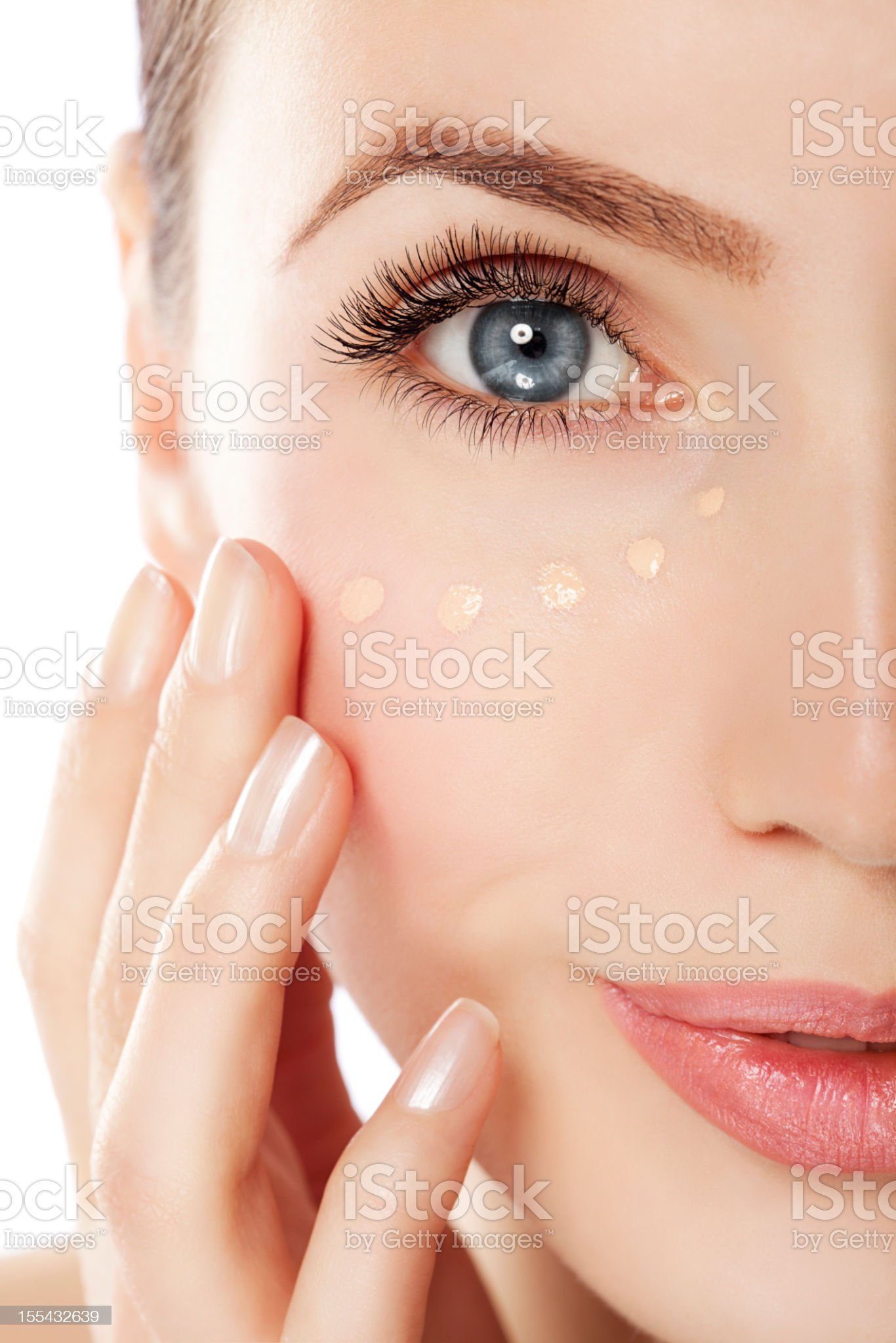Beautiful woman with cream royalty-free stock photo