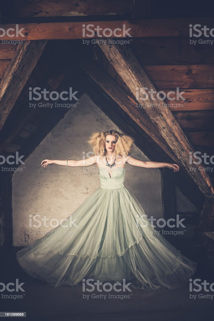 Beautiful woman with creative styling royalty-free stock photo