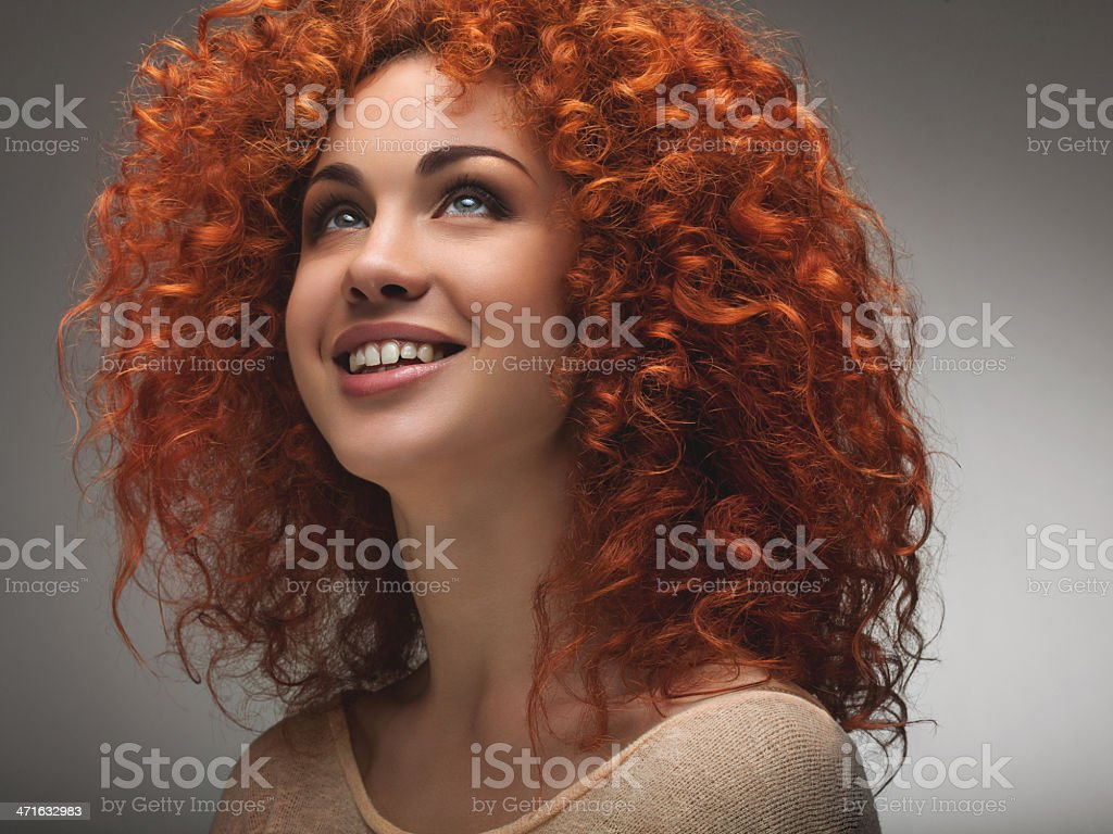 Beautiful Woman with Curly Long Hair. royalty-free stock photo