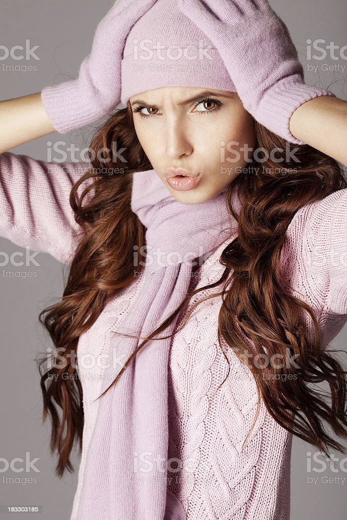 Beautiful woman with emotions royalty-free stock photo