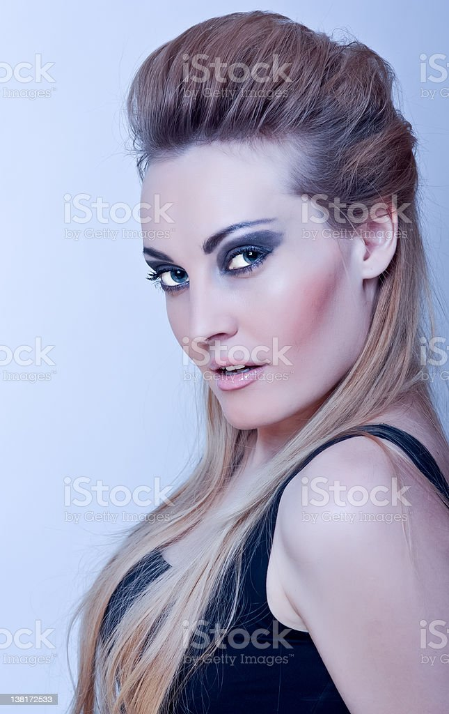 Beautiful woman with evening make-up royalty-free stock photo