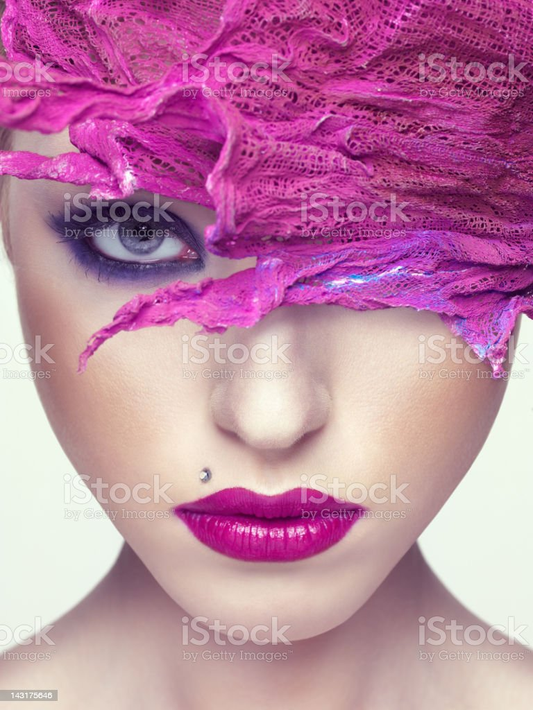 Beautiful woman with hair accessory royalty-free stock photo