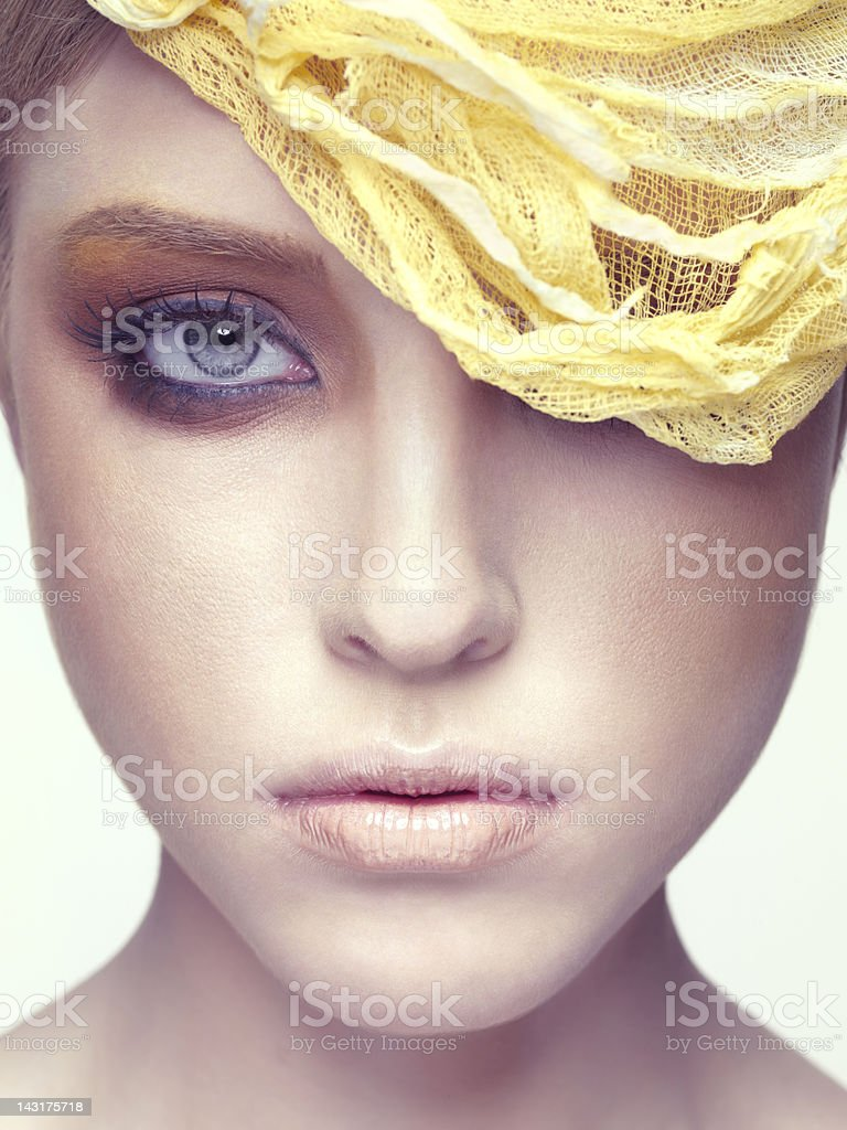 Beautiful woman with hair accessory stock photo
