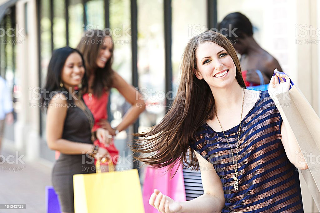 Beautiful Woman with Her shopping bags stock photo
