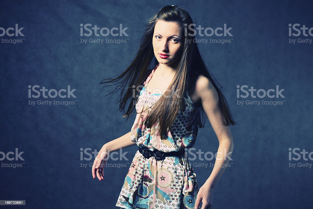beautiful woman with long hair royalty-free stock photo