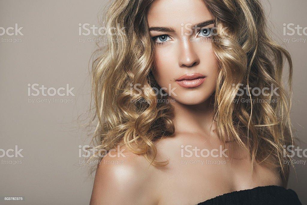 Beautiful woman with make up stock photo