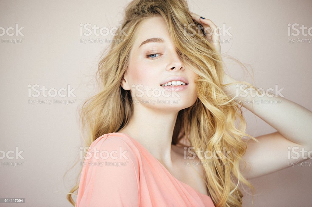 Beautiful woman with make-up stock photo