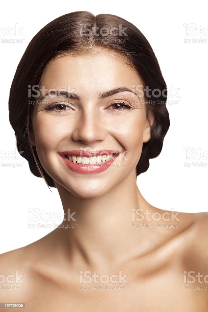 Beautiful woman with natural beauty royalty-free stock photo
