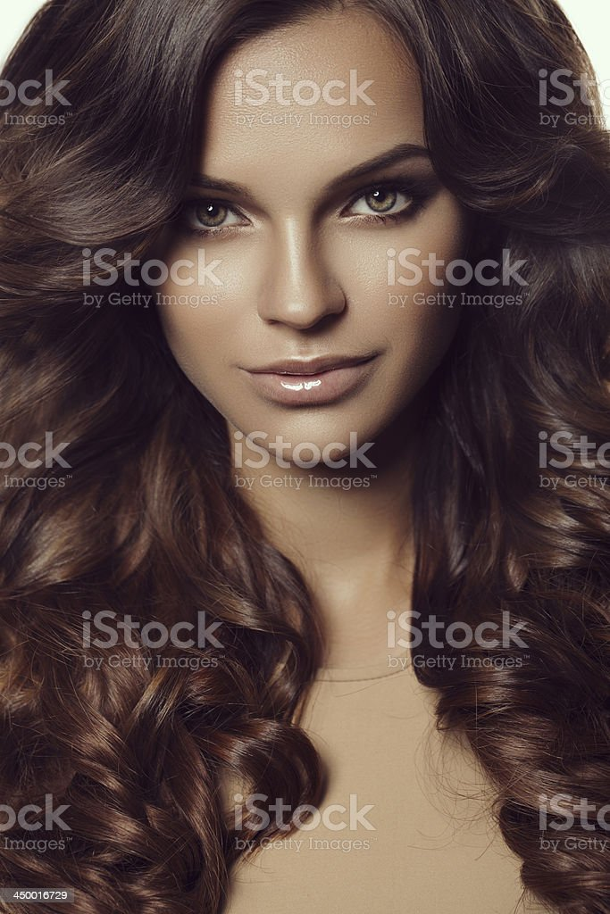 Beautiful woman with perfect hair royalty-free stock photo