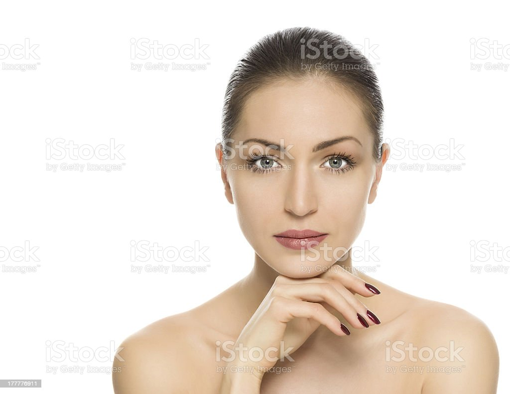 beautiful woman with perfect skin royalty-free stock photo