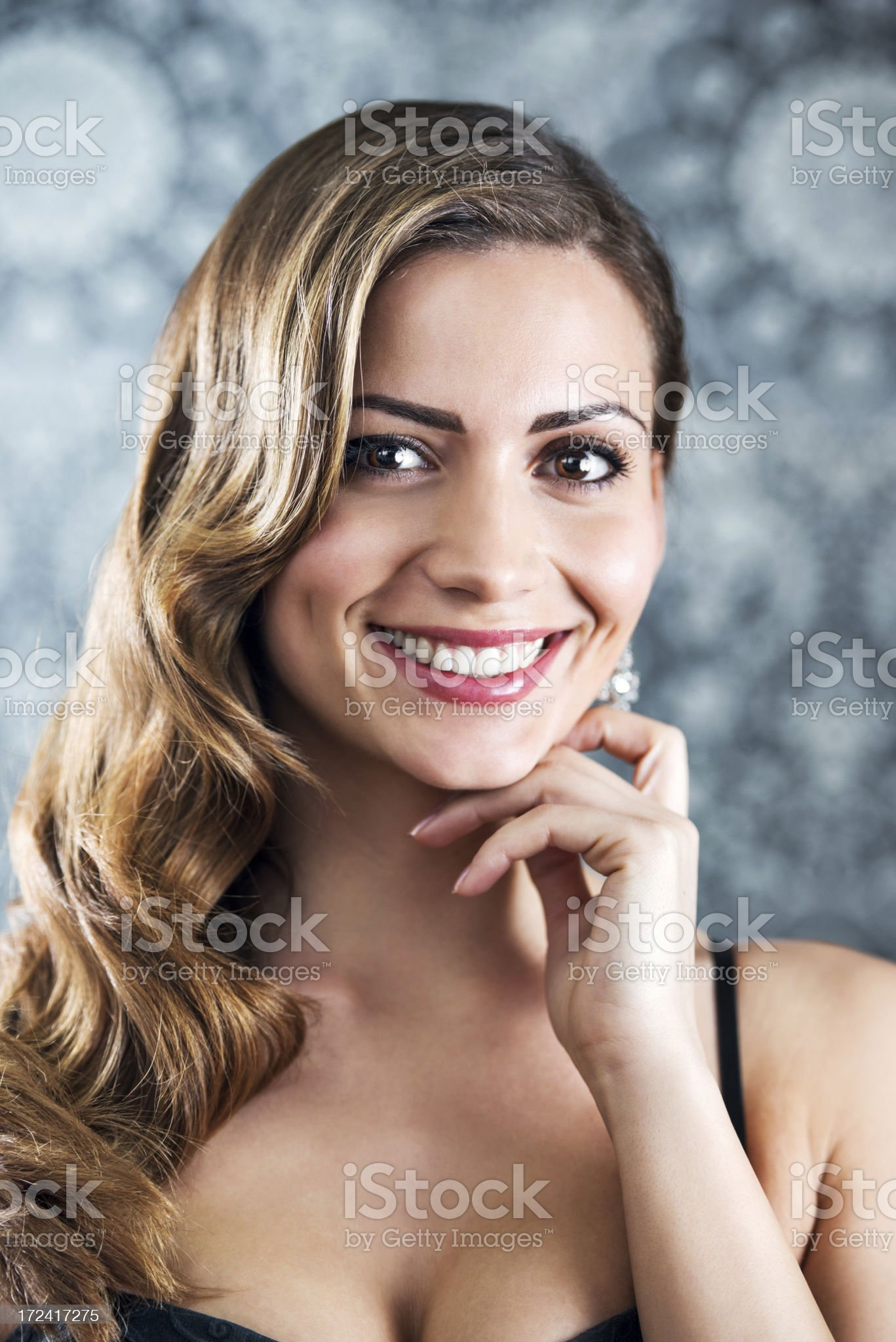 Beautiful woman with retro hairstyle. royalty-free stock photo