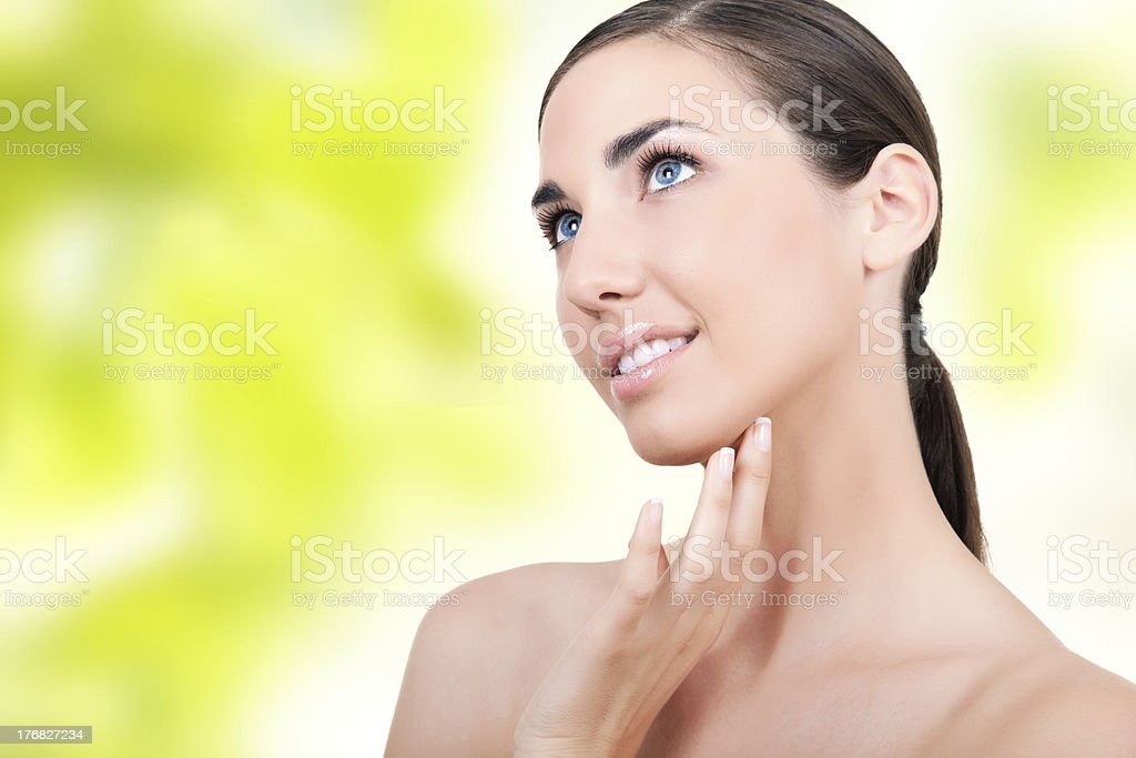 beautiful woman with soft skin royalty-free stock photo