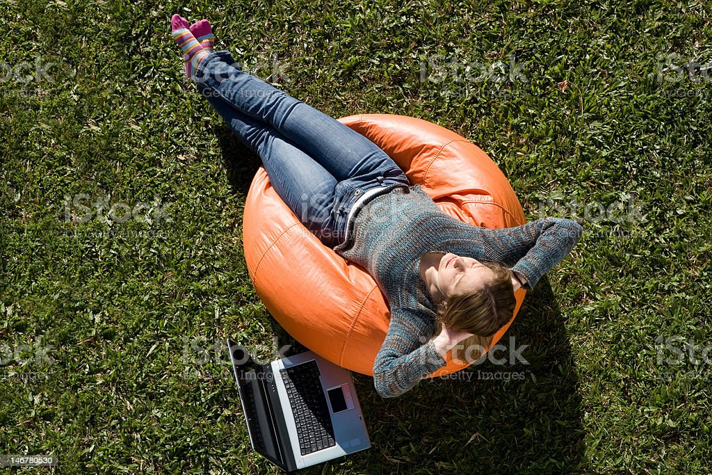 beautiful woman working out royalty-free stock photo