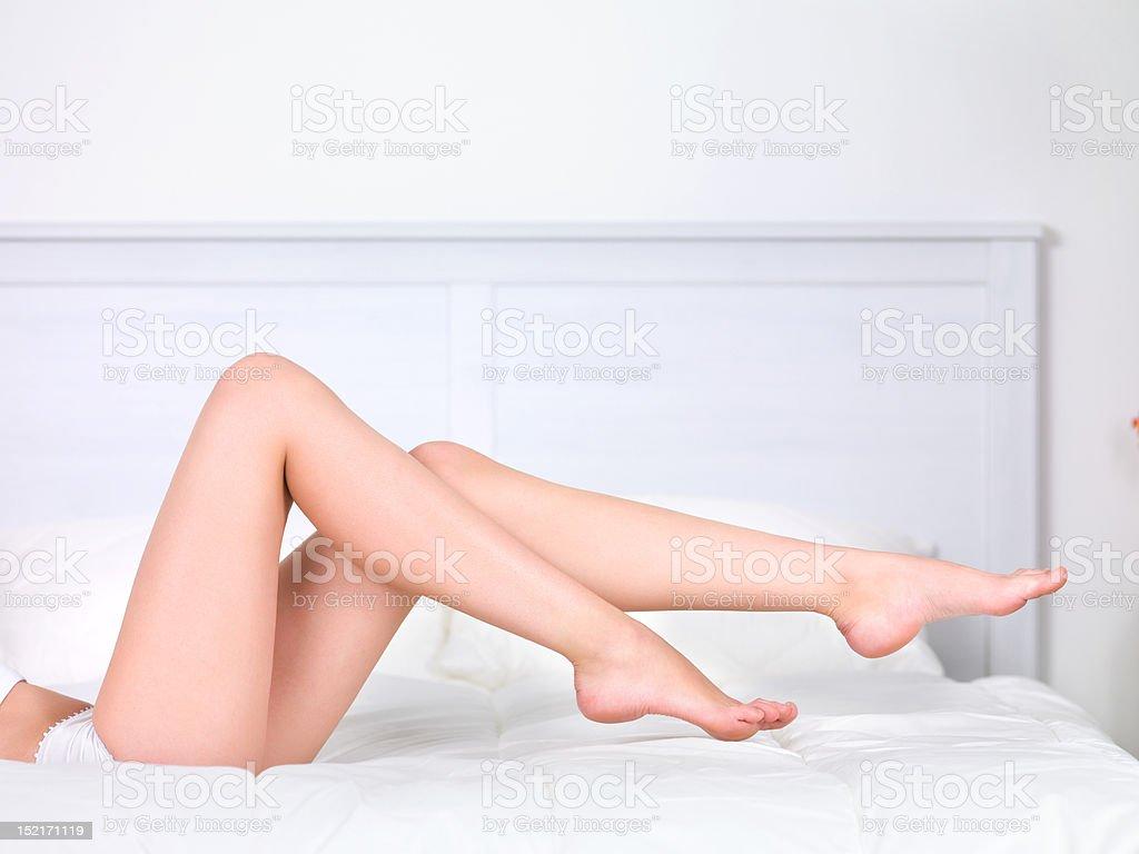 Beautiful woman's legs stock photo