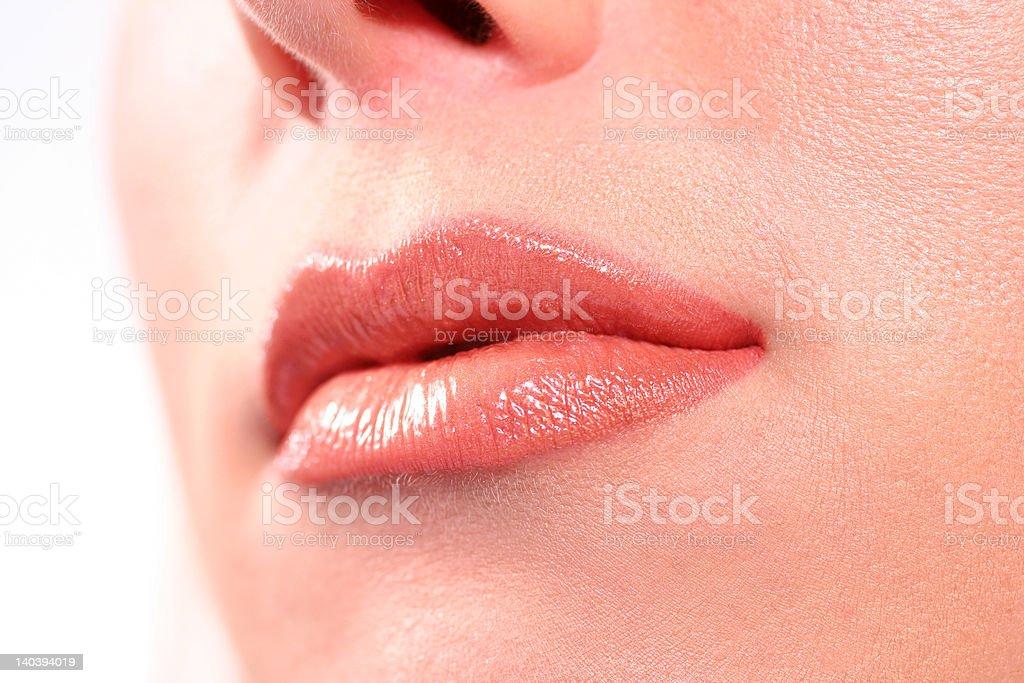Beautiful Womans lips royalty-free stock photo