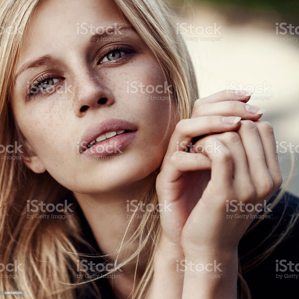 Beautiful womanwith watches stock photo