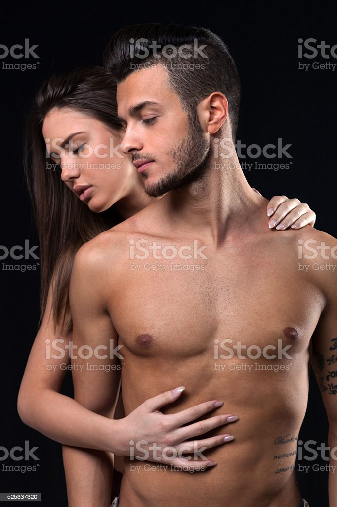 Beautiful women and handsome man stock photo