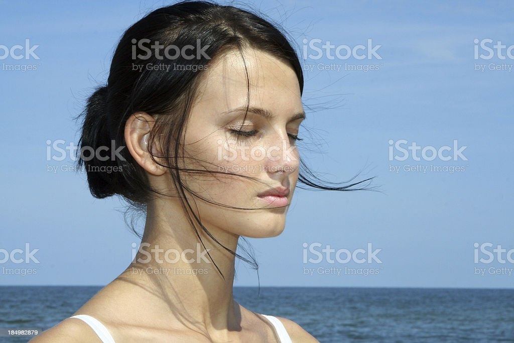 Beautiful Women - Concentration stock photo