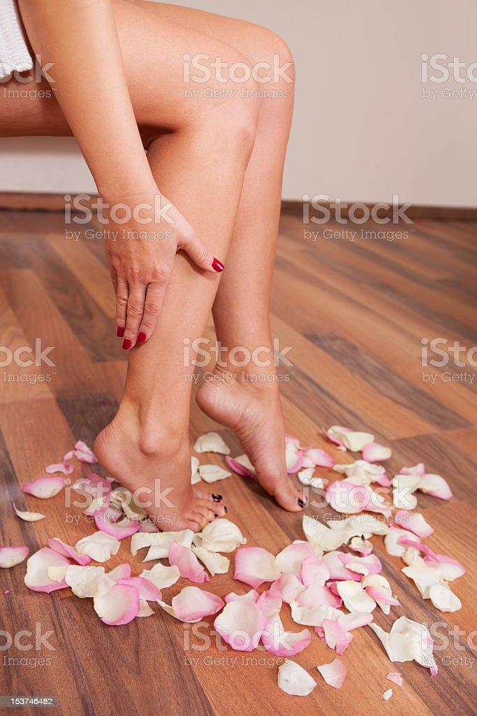 Beautiful women legs royalty-free stock photo