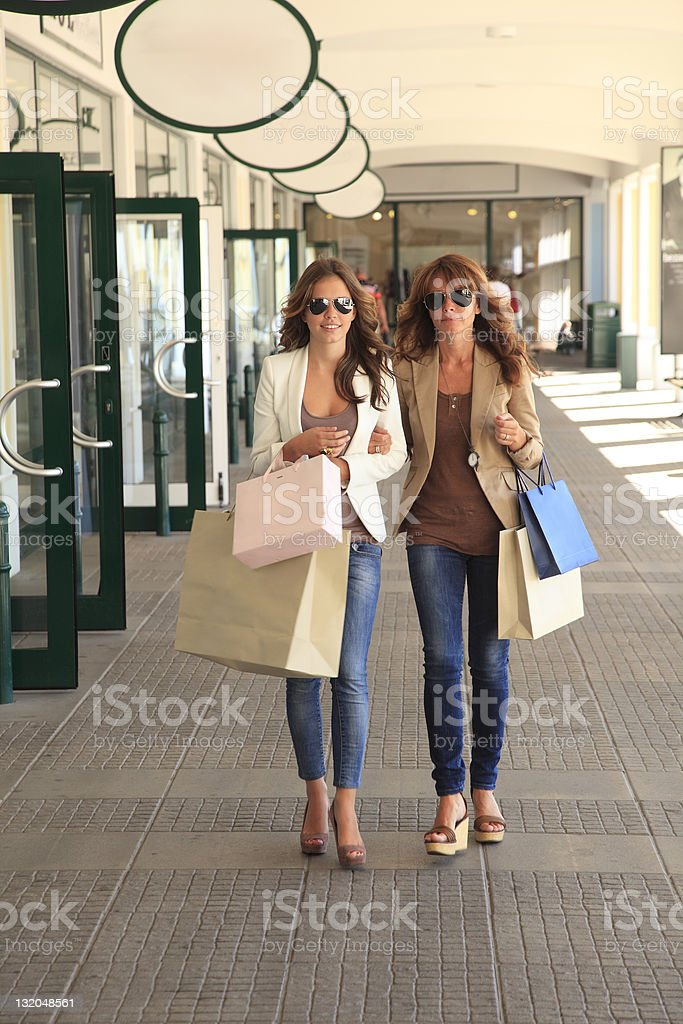Beautiful women shopping royalty-free stock photo