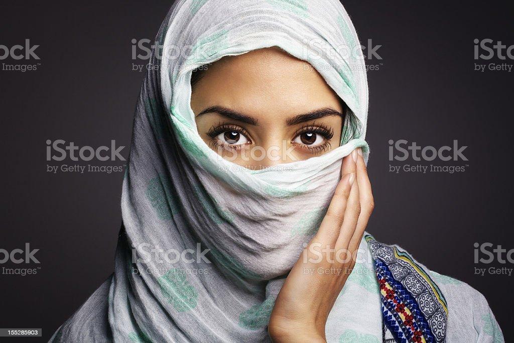 Beautiful women wearing a Hijab royalty-free stock photo