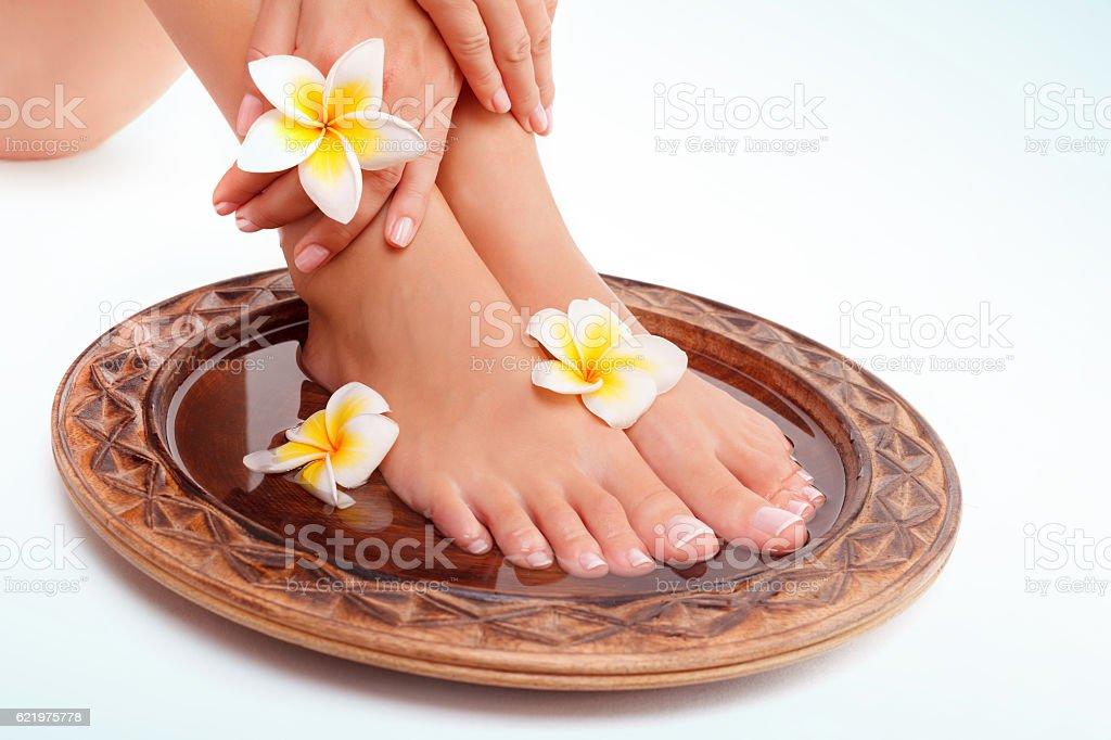 Beautiful womens legs stock photo