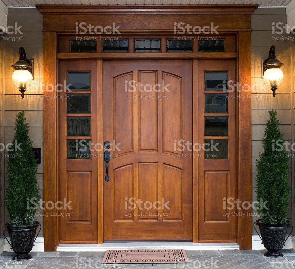Beautiful Wooden Door royalty-free stock photo