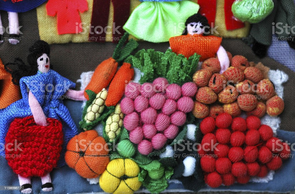 Beautiful works of art at Country Market Arpiller royalty-free stock photo