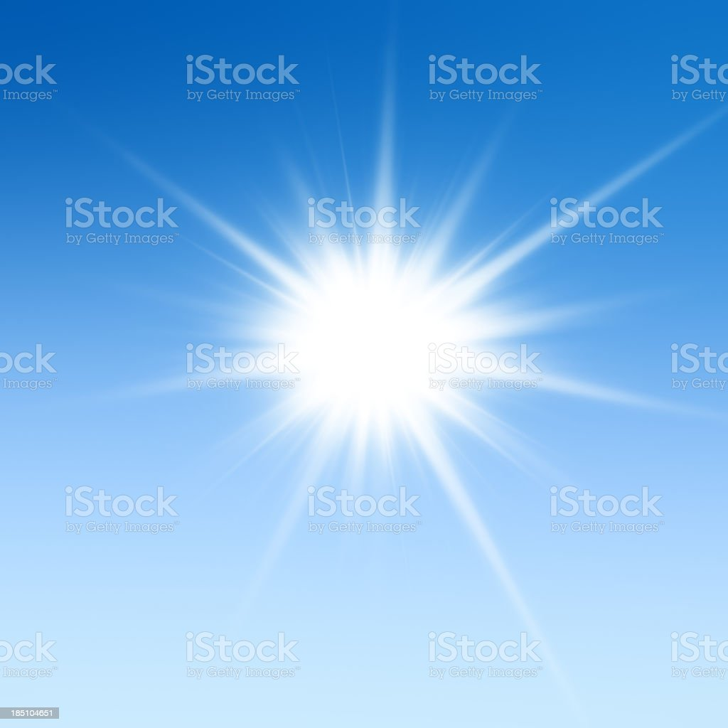 Beautiful XXXL starburst light background stock photo