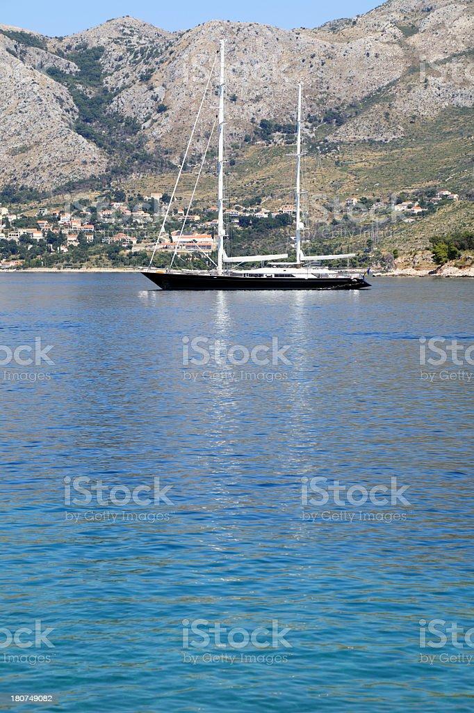 Beautiful yacht stock photo