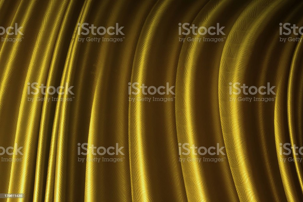 Beautiful Yellow curtain background. royalty-free stock photo