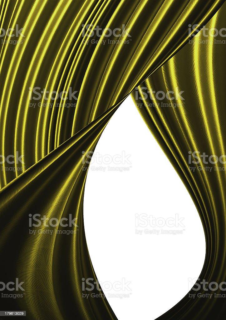 Beautiful Yellow curtain background. royalty-free stock photo