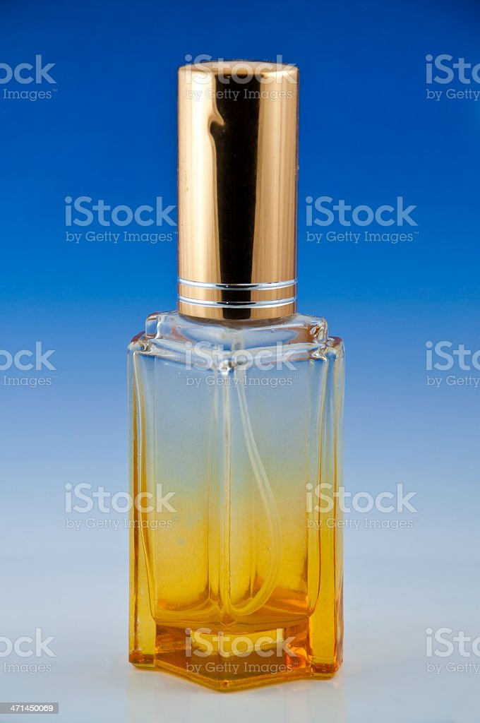 Piękne żółte butelki perfum zbiór zdjęć royalty-free