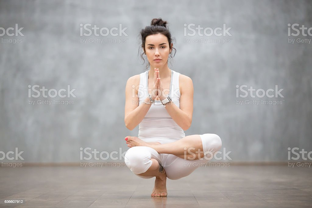 Beautiful Yoga: Toestand pose stock photo
