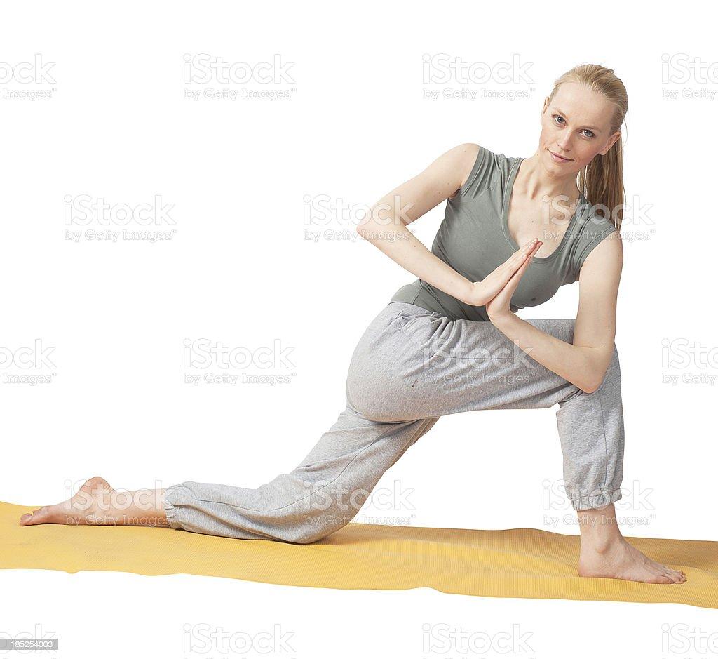 beautiful yoga woman exercising royalty-free stock photo