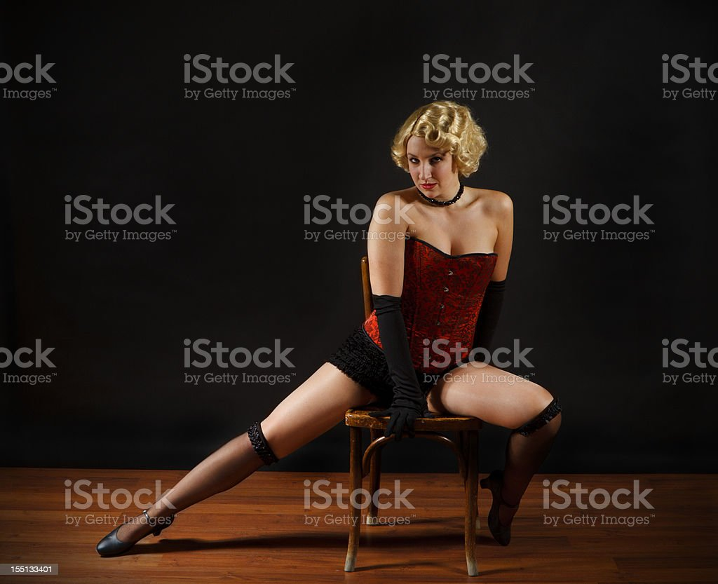 Beautiful Young Actress On Stage stock photo