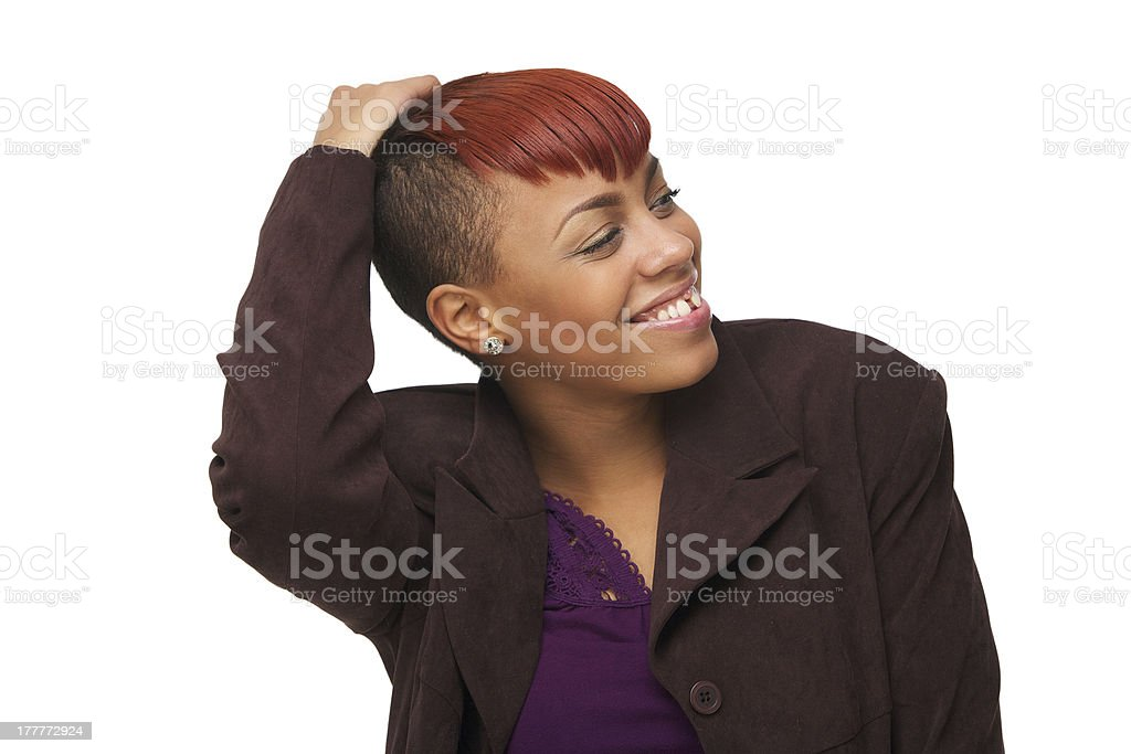 Beautiful Young African American Woman Smiling royalty-free stock photo
