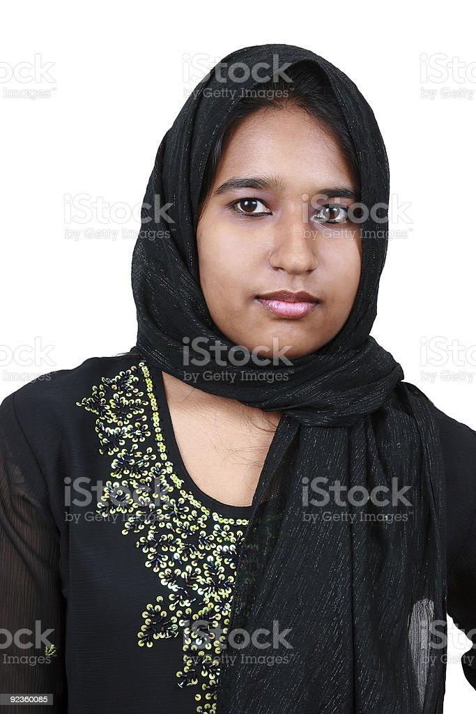 Beautiful young Asian girl. stock photo