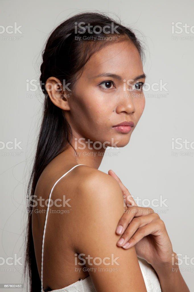 Beautiful young Asian woman. stock photo