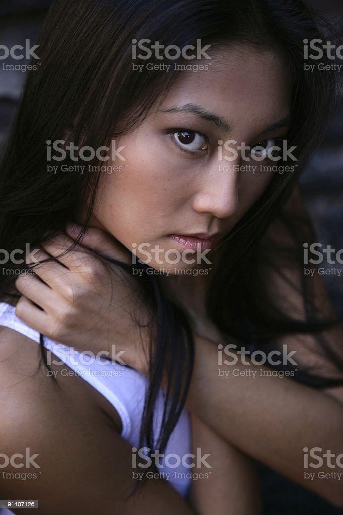 Beautiful young asian woman royalty-free stock photo